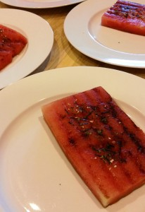 Teriyaki Salmon Over Grilled Watermelon - Eat-in With YiaYia