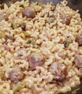 Chicken Meatball Alfredo Mac - Eat-in With YiaYia