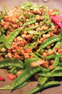 Kung Pao Chickpea Noodle Bowl - Eat-in With YiaYia