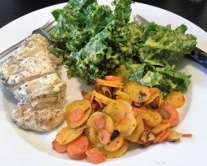 Kale with Mango Vinaigrette - Eat-in With YiaYia