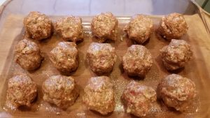 GF Spicy Meatballs - EatinWithYiaYia.com